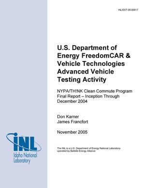 Primary view of object titled 'NYPA/TH!NK Clean Commute Program Final Report - Inception through December 2004'.