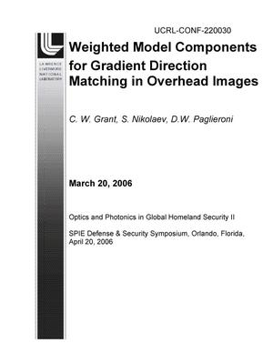 Primary view of object titled 'Weighted Model Components for Gradient Direction Matching in Overhead Images'.