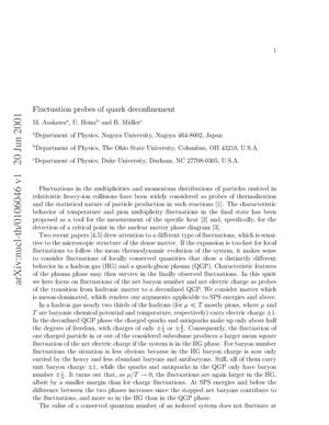 Primary view of object titled 'Fluctuation probes of quark deconfinement'.