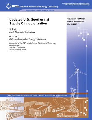 Primary view of object titled 'Updated U.S. Geothermal Supply Characterization'.