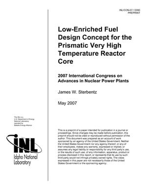 Primary view of object titled 'Low-Enriched Fuel Design Concept for the Prismatic Very High Temperature Reactor Core'.