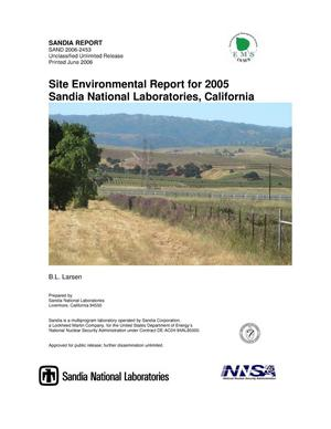 Primary view of object titled 'Site environmental report for 2005 Sandia National Laboratories, California.'.