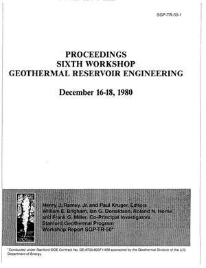 Primary view of object titled 'Introduction to the Proceedings of the Sixth Geothermal Reservoir Engineering Workshop, Stanford Geothermal Program'.