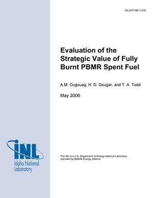 Primary view of object titled 'Evaluation of the Strategic Value of Fully Burnt PBMR Spent Fuel - A Report to ISPO in Response to IAEA Letter Request (2004-08-30)'.