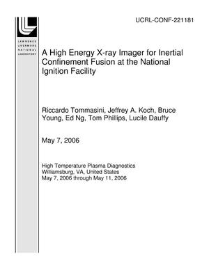 Primary view of object titled 'A High Energy X-ray Imager for Inertial Confinement Fusion at the National Ignition Facility'.