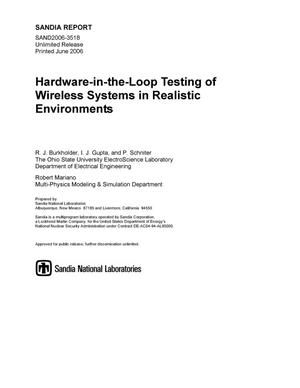 Primary view of object titled 'Hardware-in-the-loop testing of wireless systems in realistic environments.'.