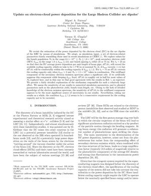Primary view of object titled 'Update on electron-cloud power deposition for the LHC arcdipoles'.