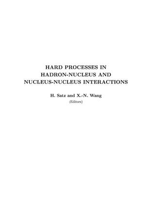Primary view of object titled 'Hard processes in hadron-nucleus and nucleus-nucleusinteractions'.