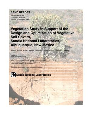 Primary view of object titled 'Vegetation study in support of the design and optimization of vegetative soil covers, Sandia National Laboratories, Albuquerque, New Mexico.'.