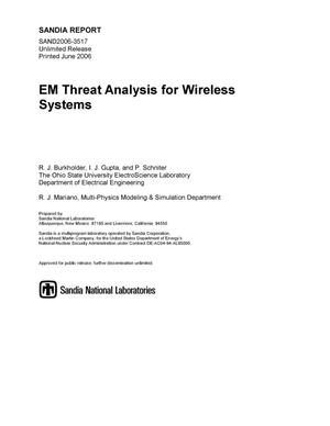 Primary view of object titled 'EM threat analysis for wireless systems.'.