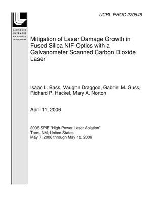 Primary view of object titled 'Mitigation of Laser Damage Growth in Fused Silica NIF Optics with a Galvanometer Scanned Carbon Dioxide Laser'.