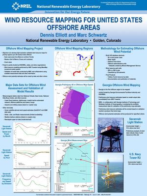 Primary view of object titled 'Wind Resource Mapping for United States Offshore Areas'.