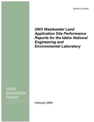 Primary view of object titled '2003 Wastewater Land Application Site Performance Reports for the Idaho National Engineering and Environmental Laboratory'.