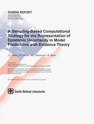 Primary view of object titled 'A sampling-based computational strategy for the representation of epistemic uncertainty in model predictions with evidence theory.'.