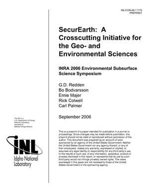 Primary view of object titled 'SECUREarth: A CROSSCUTTING INITIATIVE FOR THE GEO- AND ENVIRONMENTAL SCIENCES'.