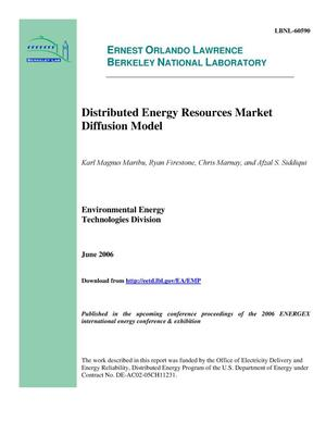 Primary view of object titled 'Distributed Energy Resources Market Diffusion Model'.