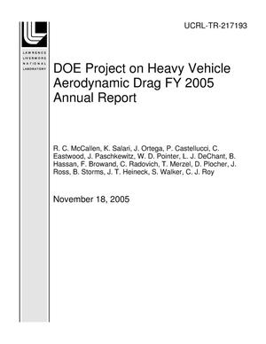 Primary view of object titled 'DOE Project on Heavy Vehicle Aerodynamic Drag FY 2005 Annual Report'.