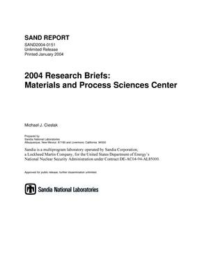 Primary view of object titled '2004 research briefs :Materials and Process Sciences Center.'.