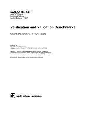 Primary view of object titled 'Verification and validation benchmarks.'.