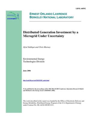 Primary view of object titled 'Distributed Generation Investment by a Microgrid UnderUncertainty'.