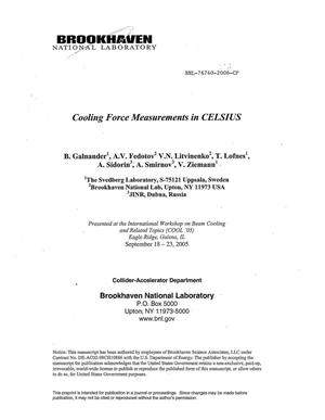 Primary view of object titled 'COOLING FORCE MEASUREMENTS IN CELSIUS.'.