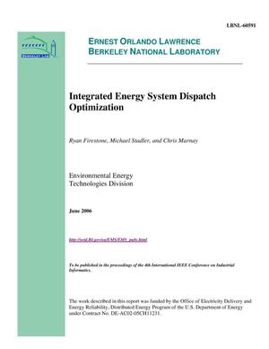 Primary view of object titled 'Integrated Energy System Dispatch Optimization'.