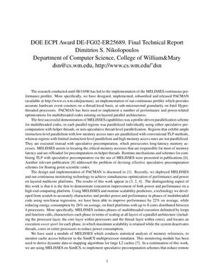 Primary view of object titled 'DOE ECPI AWARD DE-FG02-05ER25689 FINAL TECHNICAL REPORT'.