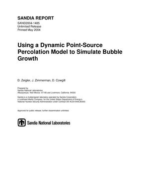 Primary view of object titled 'Using a dynamic point-source percolation model to simulate bubble growth.'.