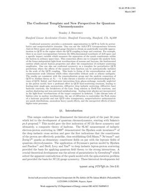 Primary view of object titled 'The Conformal Template and New Perspectives for Quantum Chromodynamics'.