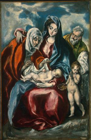 Primary view of The Holy Family with Saint Anne and the Infant John the Baptist
