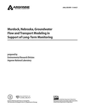 Primary view of object titled 'Murdock, Nebraska, groundwater flow and transport modeling in support of long-term monitoring.'.