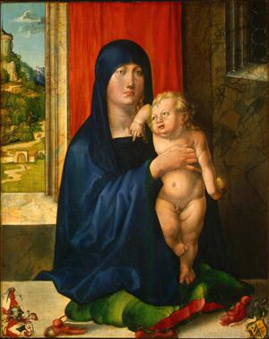 Primary view of object titled 'Madonna and Child (recto)'.