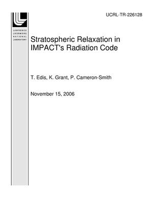 Primary view of object titled 'Stratospheric Relaxation in IMPACT's Radiation Code'.