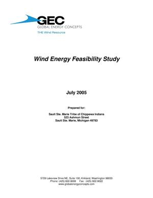 Primary view of object titled 'Sault Tribe Wind Energy Feasibility Study'.