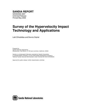Primary view of object titled 'Survey of the hypervelocity impact technology and applications.'.