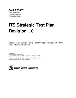 Primary view of object titled 'ITS strategic test plan : revision 1.0.'.