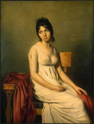 Primary view of object titled 'Portrait of a Young Woman in White'.