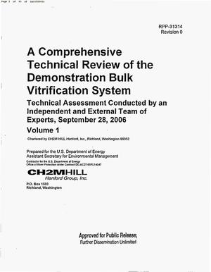 Primary view of object titled 'A COMPREHENSIVE TECHNICAL REVIEW OF THE DEMONSTRATION BULK VITRIFICATION SYSTEM'.