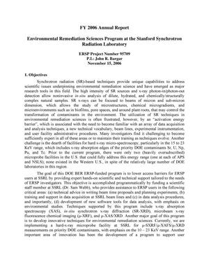 Primary view of object titled 'Environmental Remediation Sciences Program at the Stanford Synchrotron Radiation Laboratory'.