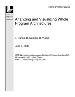 Primary view of object titled 'Analyzing and Visualizing Whole Program Architectures'.