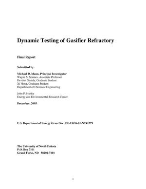 Primary view of object titled 'Dynamic Testing of Gasifier Refractory'.