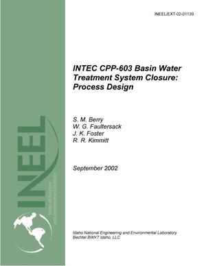 Primary view of object titled 'INTEC CPP-603 Basin Water Treatment System Closure: Process Design'.