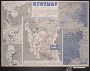 Primary view of object titled 'Newsmap. For the Armed Forces. 280th week of the war, 162nd week of U.S. participation'.