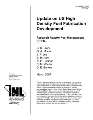 Primary view of object titled 'Update on US High Density Fuel Fabrication Development'.