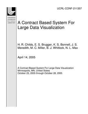 Primary view of object titled 'A Contract Based System For Large Data Visualization'.