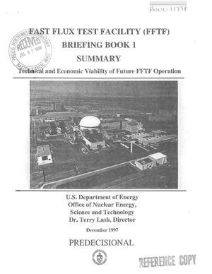 Primary view of object titled 'Fast Flux Test Facility (FFTF) Briefing Book 1 Summary'.