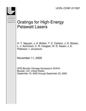 Primary view of object titled 'Gratings for High-Energy Petawatt Lasers'.