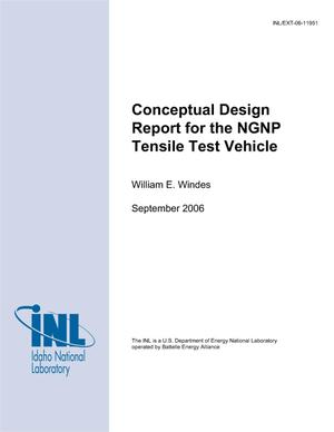 Primary view of object titled 'Conceptual Design Report for the NGNP Tensile Test Vehicle'.