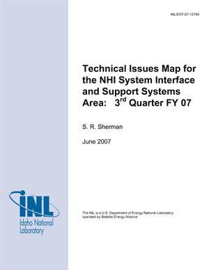 Primary view of object titled 'Technical Issues Map for the NHI System Interface and Support Systems Area: 3rd Quarter FY 07'.