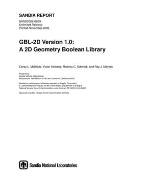Primary view of object titled 'GBL-2D Version 1.0: a 2D geometry boolean library.'.